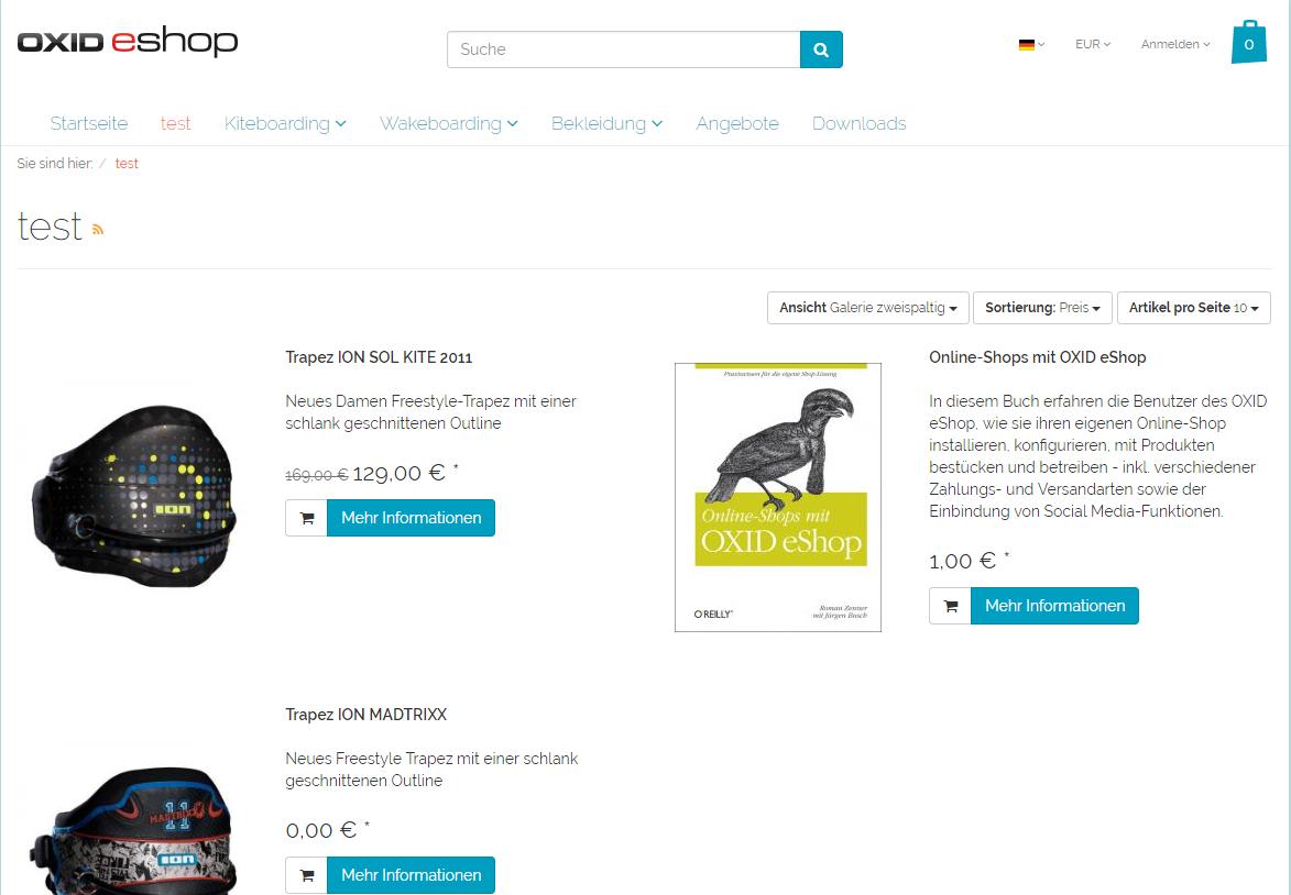 OXID eShop bugtrack